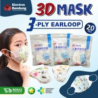 Masker Duckbill Anak Kids 3Ply 1 Pack 20Pcs Masker Kesehatan Anak Lucu