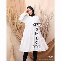 tunik wanita muslim terbaru hijab 4 warna Atasan paling murah omb12991