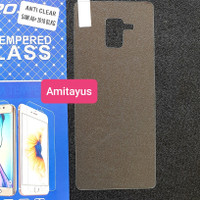 tempered glass back samsung a8 plus 2018 anti gores belakang