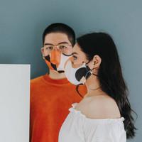 Starke Leather Face Mask Basic Patterned Masker Kain Fend Virginia