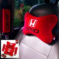 Bantal Mobil Honda Brio Sandar Kepala-Bantal Jok Mobil Brio Merah