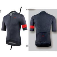 Baju Jersey Pria Import premium jersey roadbike mtb terbaru 2021 - Abu hitam, M
