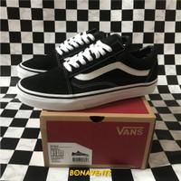 Sepatu Vans Old Skool Classic Global Black White Original