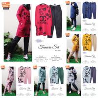 New Tamara Set Setelan Celana Wanita Jumbo Baju Hangout Big Size Modis