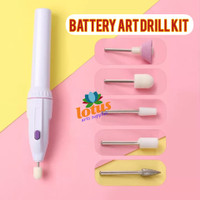 Battery Art Drill Kit / Mesin Amplas Poles Mini