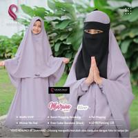 Baju Gamis Anak Set Hijab Cadar MARWA KIDS Syari Original Shahinaz