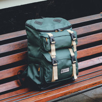FREE RAINCOVER | Mckinley Shifter Green Backpack Pria Casual Outdoor
