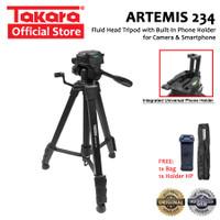 TAKARA ARTEMIS 234 Tripod Fluid Head for Camera Smartphone + Holder HP