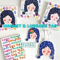 Ideku Handmade MAGNET & LUGGAGE TAG PUBI / Idekuhandmade