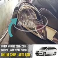 Garnish Lampu Depan Mobilio Chrome 2014 - 2016