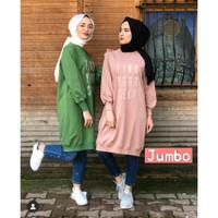 Busana Muslim Wanita Terbaru Baju XXL Tunik Kaos Muslimah Atasan Hijab