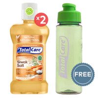 TOTAL CARE Anti Bacterial Mouthwash Siwak Salt - 250 mL | Buy 2 Get 1
