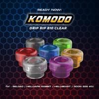 Komodo Drip Tip 810 Clear Series 100% Authentic   Driptip 810 Clear