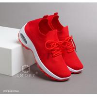 Sepatu E M O R Y Flexknit Sneakers HDLEMO2968 - red, 36
