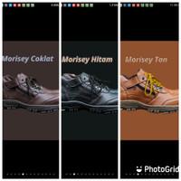 Promo Hot! Sepatu Pria Boots Morisey Safety Ujung Besi Kerja Pendek