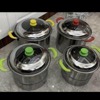 Panci Stok Pot Steamer Stainless Steel 555 Nagako