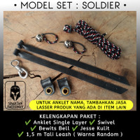 CELEPUK KESTREL KABIT Anklet Angklet Gelang Kaki SPARTAN FALCONRY - SOLDIER, BG