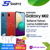 SAMSUNG GALAXY M02 - 5000mAh Battery - 2GB 32GB 2/32 - Garansi Resmi