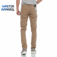 HIPSTER Celana Chinos Pria Canada Slim Fit Basic Mocca
