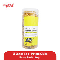 Ei Salted Egg Potato Chips Party Pack 180gr - Original/Spicy