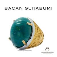 Cincin Pria Batu Akik Bacan Asli Natural Big Size Origin Indonesia