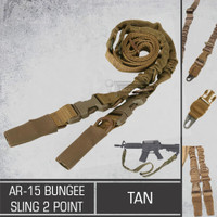 AR-15 Bungee Sling 2 Point TAN