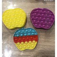 Pop It Fidget Toy Bubble Apple lucu Ready Stock - Ungu