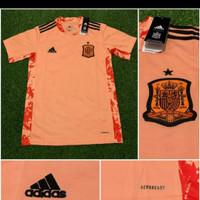 jersey bola negara spanyul kiper orange 2020-2021 grade ori import