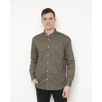 Kemeja Pria Erigo Long Shirt Didier Katun Grey