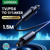 Ugreen Kabel Digital Audio Optik Toslink - Hitam, 1.5 Meter