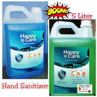Happy Care 5 liter Cair hand sanitizer alkohol 80%