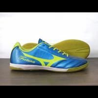 OBRAL ! sepatu FUTSAL MIZUNO FORTUNA basara morelia terbaru pria murah - blue stabilo, 38