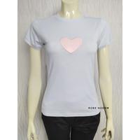 Kaos Wanita / Atasan Wanita Biru Muda Mini Size