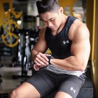 Kaos gym pria underarmour baju kaos fitness singlet adidas nike