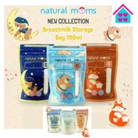 Natural Moms Kantong Asi 100ml Motif Baru / Thermal Breastmilk Bags
