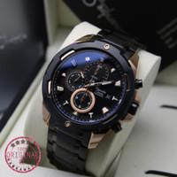 jam tangan pria alexander cristie original ac6305 black rosegold