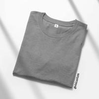 Kaos Polos Warna Abu Misty Pria Wanita Bahan Premium Cotton Combed 20s