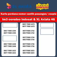 nomor cantik XL indosat ooredoo im3 4G couple pasangan kartu perdana