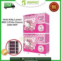 Lemari Plastik 3 Pintu Hello Kitty