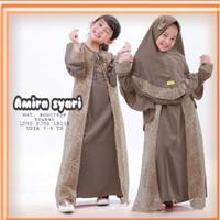 AMIRA SYARI KIDS Baju Gamis Brukat Anak Umur 7 - 9 Tahun Gamis Terbaru