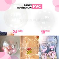Balon PVC Transparan Bening Polos