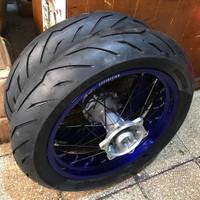 banset supermoto yamaha wr 155 Pirelli velg expedition
