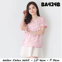Baju wanita / cewek motif batik bunga cantik kerja kantor murah