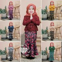 Baju set Anak Brukat+kebaya duyung Import 7 wrna