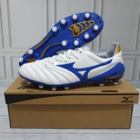 Sepatu Bola Mizuno Morelia Neo II White Blue Premium Quality