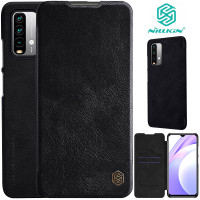 Nillkin Qin Flip Case Xiaomi RedMi 9T - Leather Cover Stand Dompet Fit