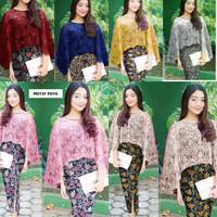 Baju set Kebaya Vanya Renda brukat+Rok kantun Batik Import
