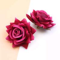 hiasan rambut tusuk konde sanggul pengantin bunga mawar - neo Rose red