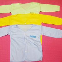 baju bayi Newborn/baju bayi panjang polos 0-3 bln polos - 6 Pcs