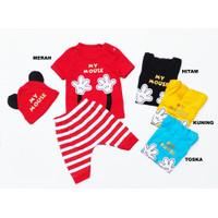 Baju Anak Bayi Setelan Motif Karakter Mickey My Mouse Free Topi